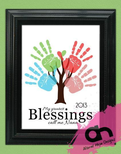 8x10 or 11 x 14 inch DIY Personalized Hand print Tree