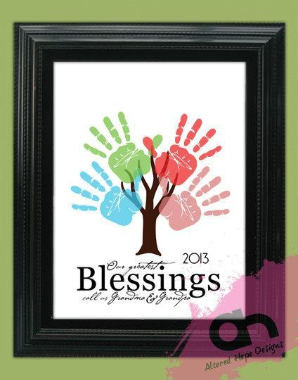11 X 14 Inch DIY Quote Handprint Tree By Sadiebugsboutique
