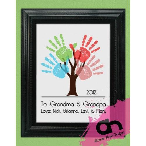 11 x 14 inch DIY Personalized Handprint Tree