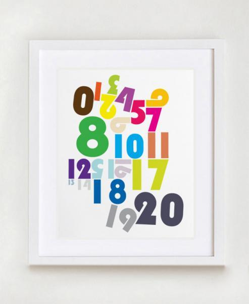 "Number Pipeline Nursery Wall Art Print - 11"" x 14"" - Modern Nursery Art for Kids"