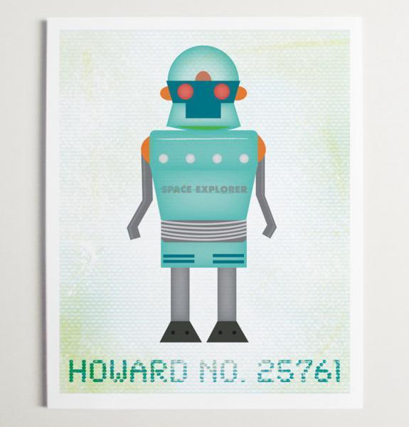 Howard No 25761 Robot Wall Art