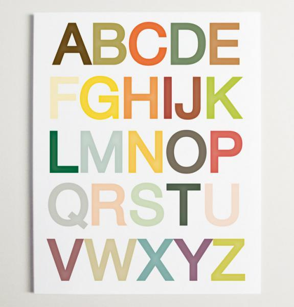 Alphabet Nursery Wall Art Print