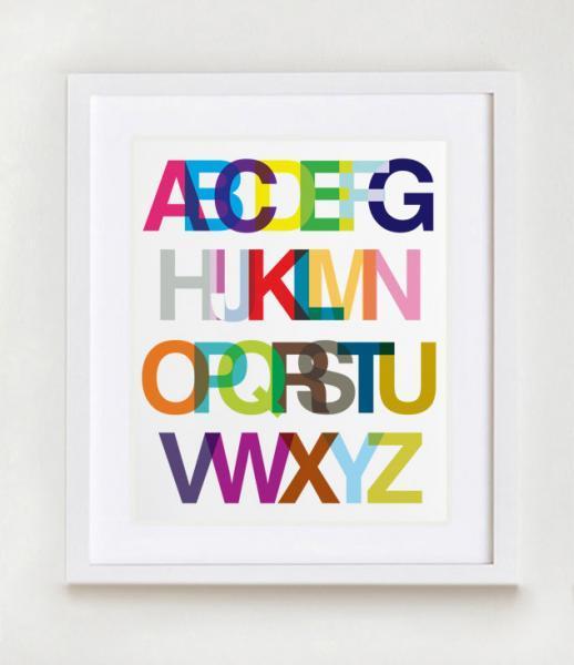An Alphabetic Ode to Helvetica Wall Art