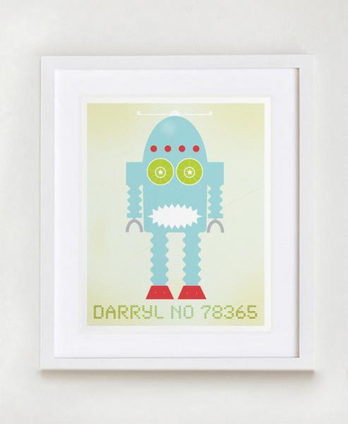 Darryl No 78365 Robot Wall Art