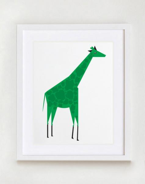 The Giraffe Wall art Print