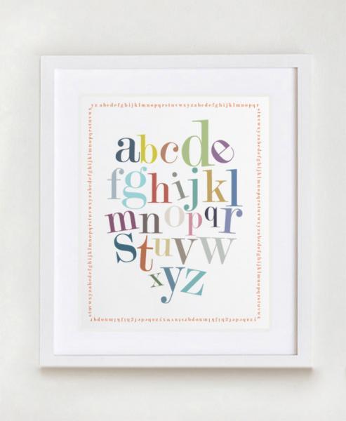 Alphabet Border Nursery Wall Art Print