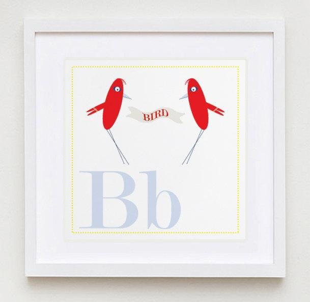 Bb is for BIRD Alphabet Print