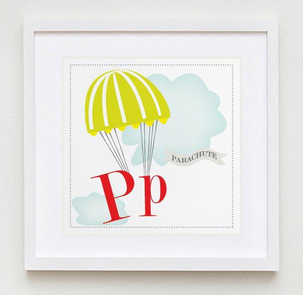 Pp is for Parachute Alphabet Print