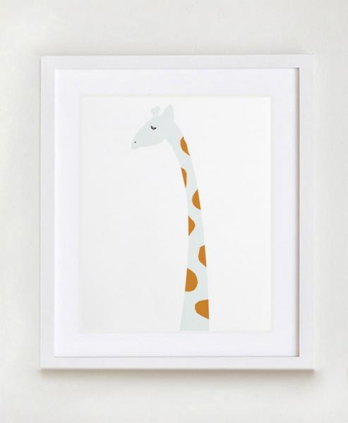 Modern Giraffe Nursery Wall Art Print