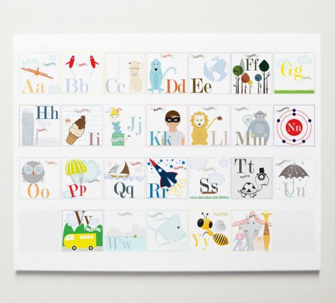 Individual Alphabet Print Set