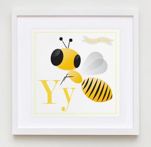 Yy is for Yellow Alphabet Print