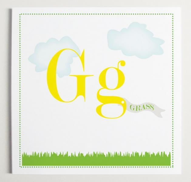 Gg is for Grass Alphabet Print
