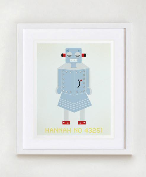 Hannah No 43251 Robot Wall Art