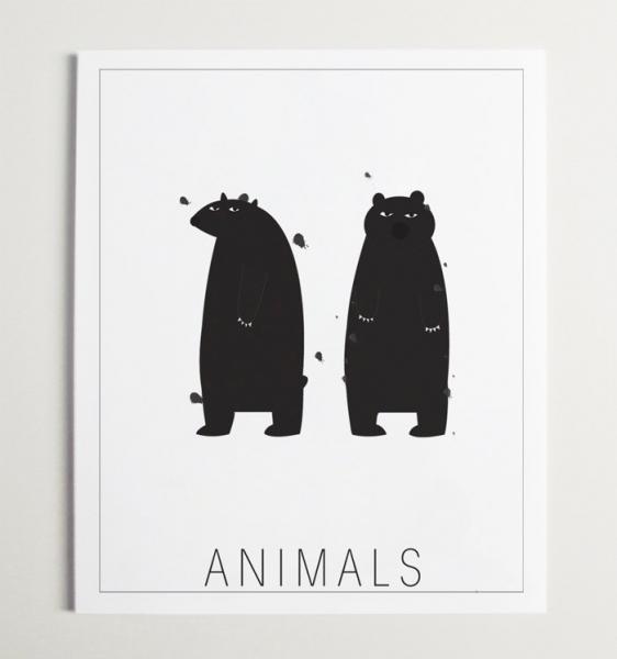 Animals Modern Nursery ArT