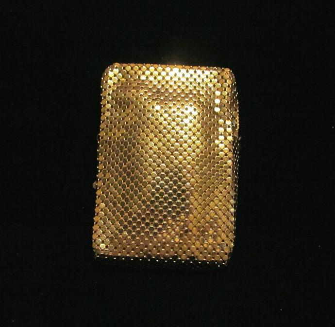 Cigarette Case Whiting & Davis Mesh Case Cell Phone Case Change Purse Card