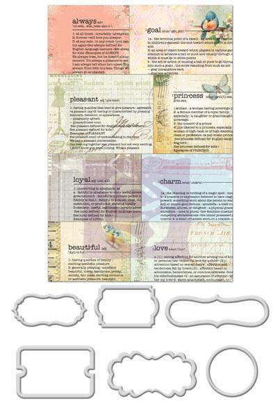 Prima Divine Newsprint Decorative Metal Frames