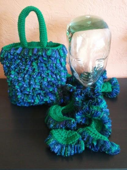Shiny Ruffle Scarf and Bag - Customize it!