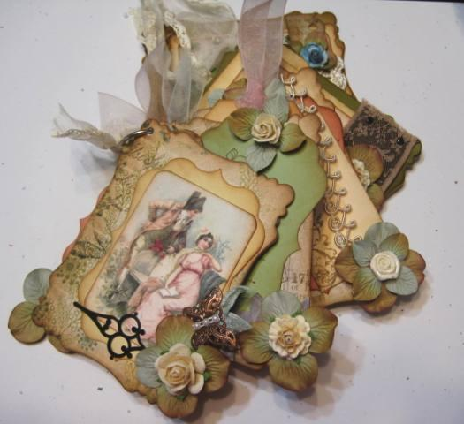 Shabby Chic Pride and Prejudice collage sheet for scrapbook and cards