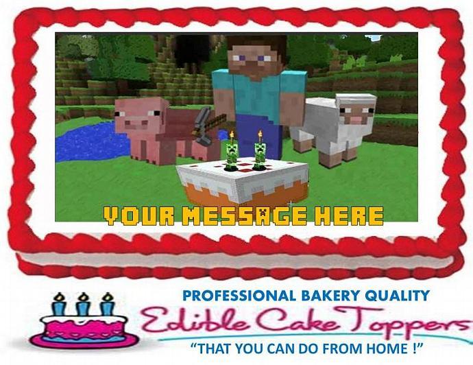 MINECRAFT Custom Edible Cake Topper Edible by ...