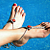 Red Ladybug Toekini - Bare Foot Sandal Thong with button
