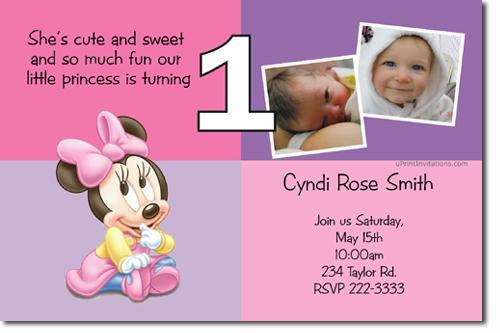 Minnie Mouse Birthday Invitations (click for additional designs)