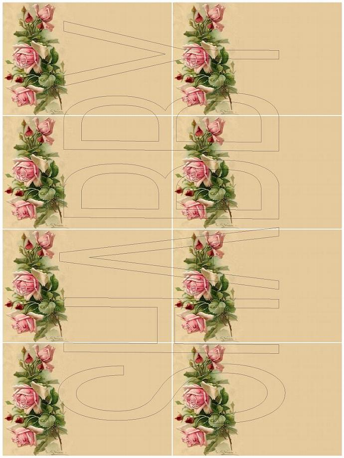 Shabby Chic digital  collage sheet for scrapbook and cards  DC593