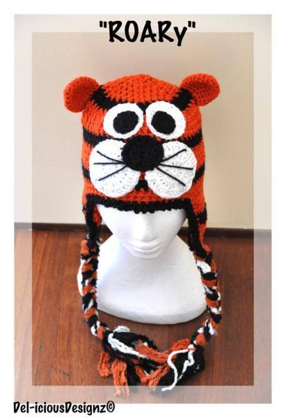 Tiger Crochet Hat - Made to Order