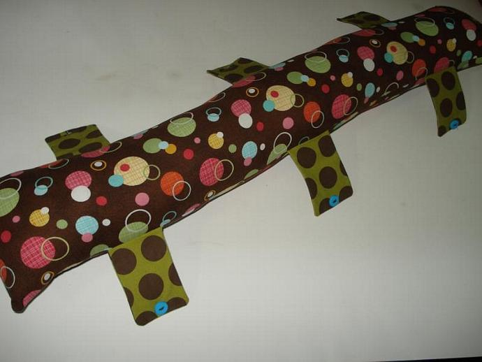 Seat-belt Pillow Tube in Multi-color Rings and Dots