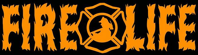 Fire Life Flames Fireman Firefighter Vinyl Decal Sticker Fire Fighter