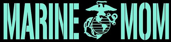 USMC Marine Mom Vinyl Decal - Sticker Window Car Military Wall