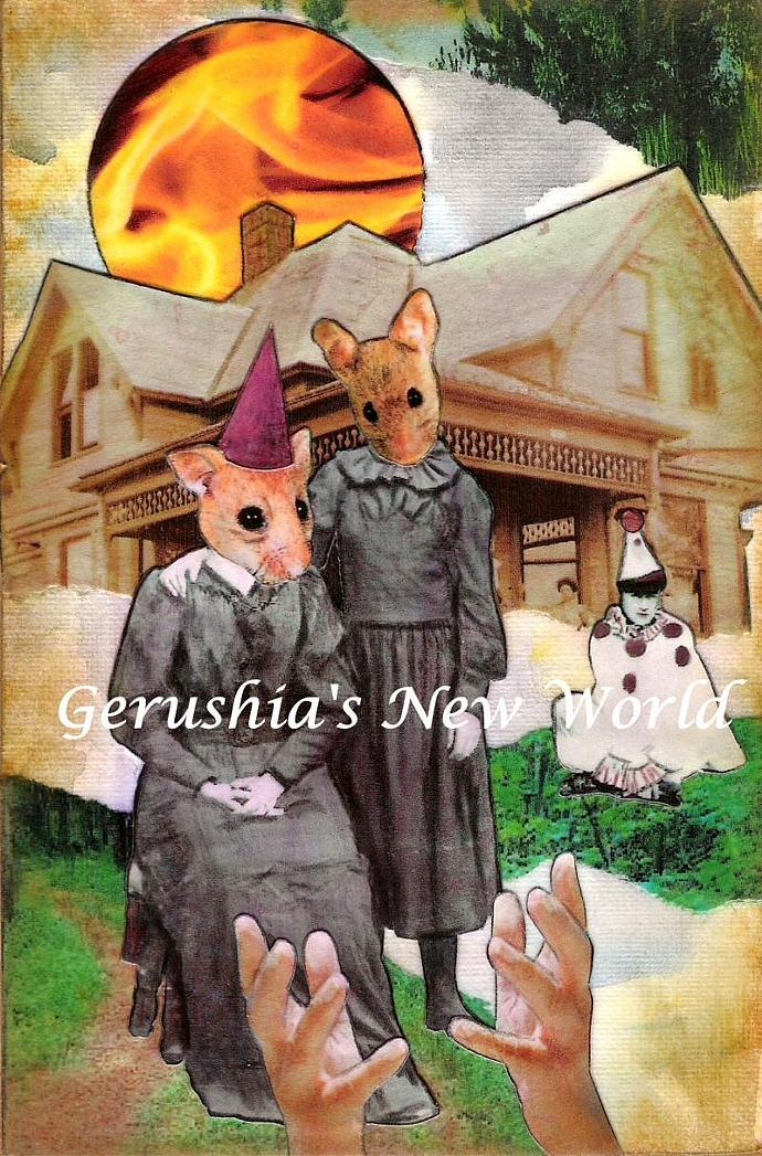 The Good Mourning Mice ~ Anthropomorphic Watercolor Collage Print