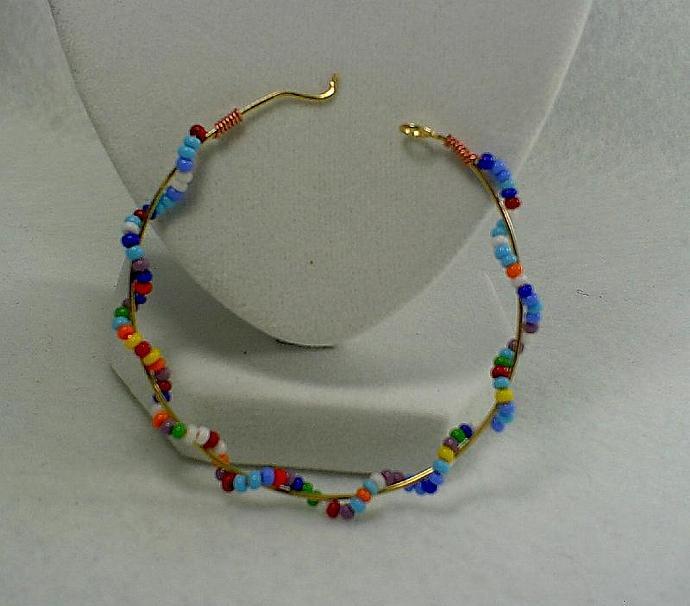 Beaded Hoop Earrings - #0146
