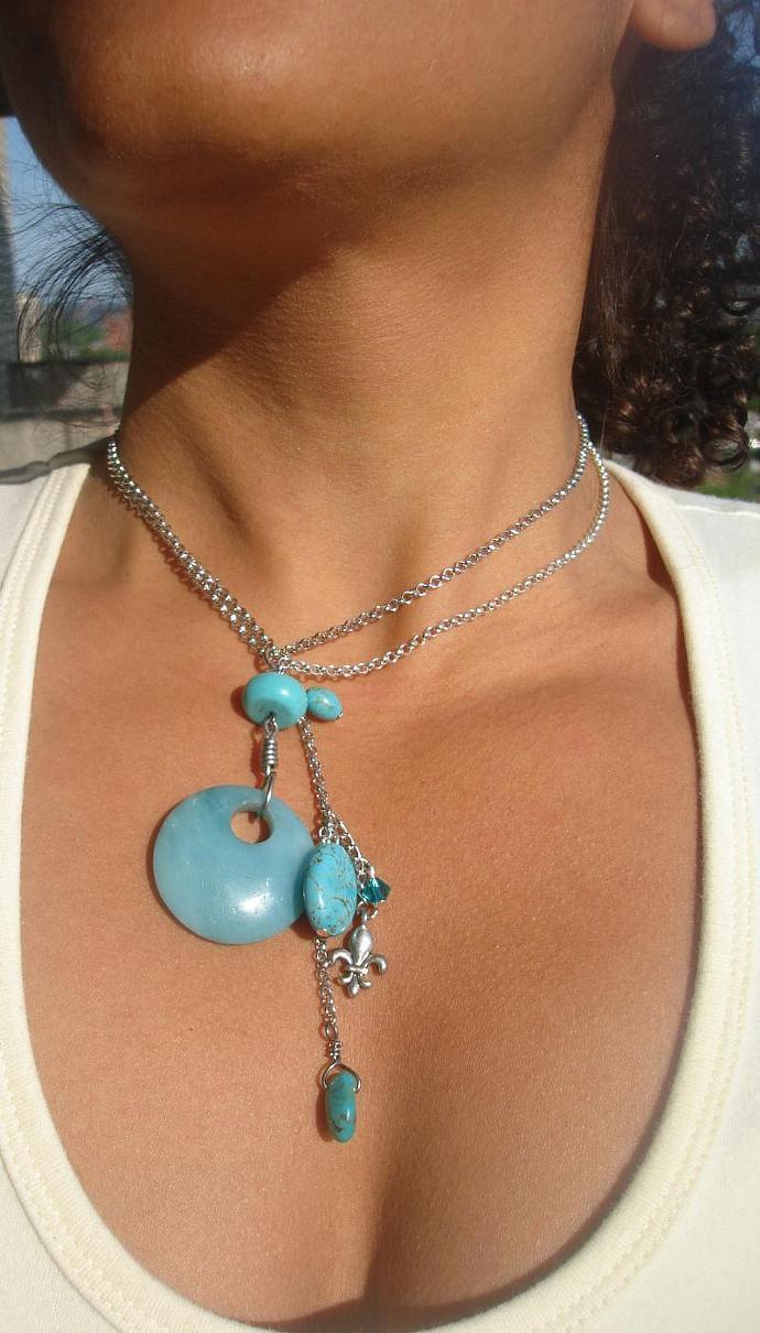 Turquoise Aquamarine Necklace