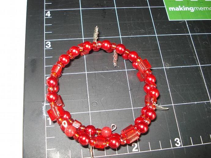 Reds - Beaded Memory Wire Bracelet