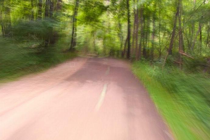 Bike Path Blur Fine Art Photo