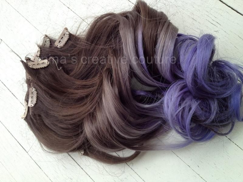 Dark purple ombre hair extensions best hair color 2017 pea blue reverse ombre hair extensions purple clip pmusecretfo Images