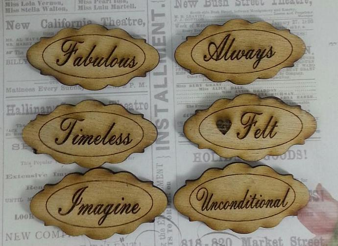 Wood label sentiments set-1