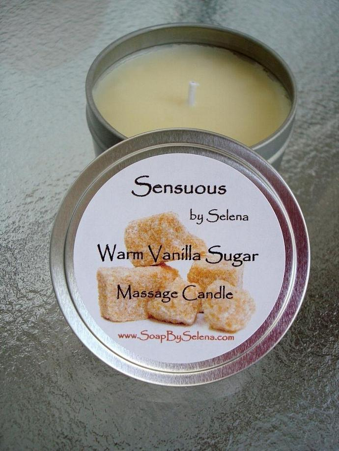 Warm Vanilla Sugar Massage Candle