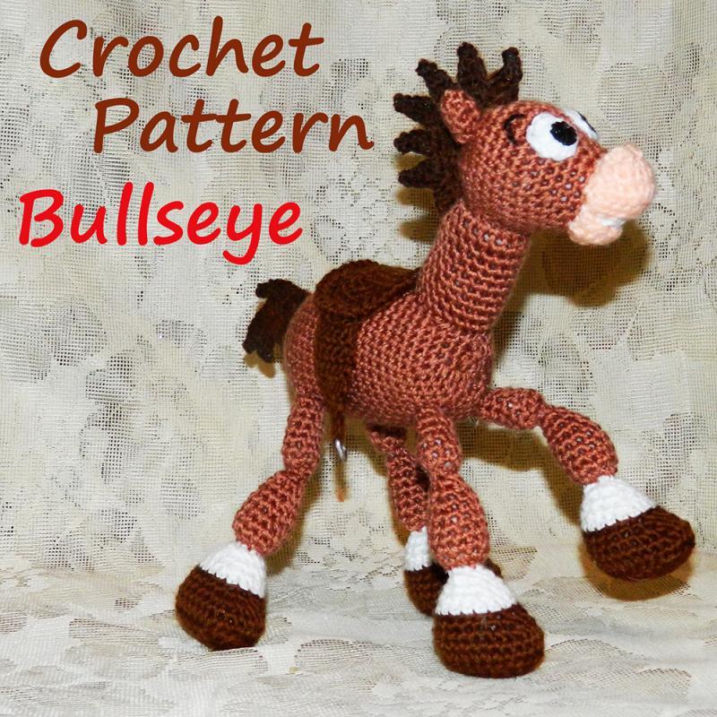 Crochet Pattern. Bullseye (Toy Story) InspiredKnittoys