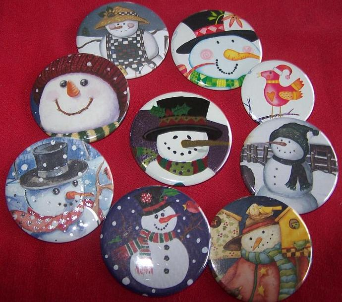 Snowman Button Collection - 9 pins