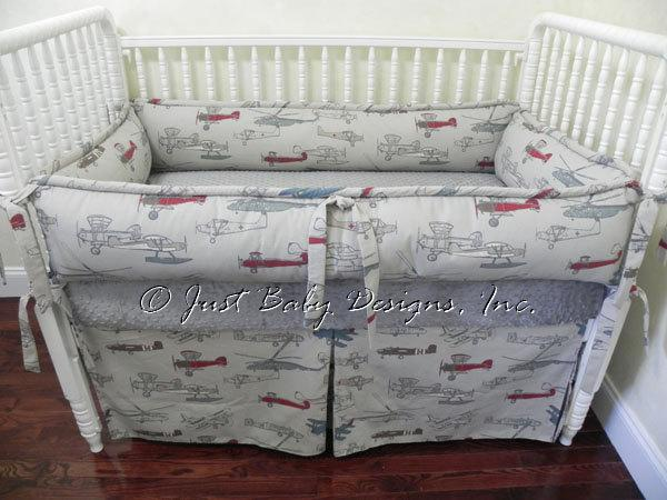 Custom Crib Bedding Set Colton Vintage By Babybedding On