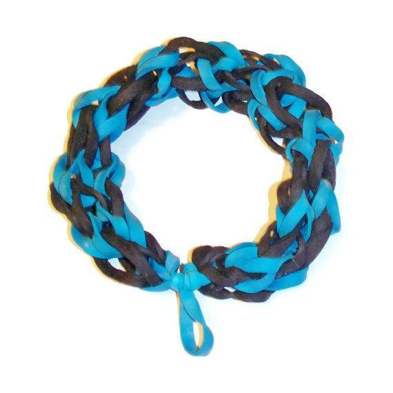 Black and Blue Rubber Band Bracelet - Gifts for Boys and Men - Guys Fashion