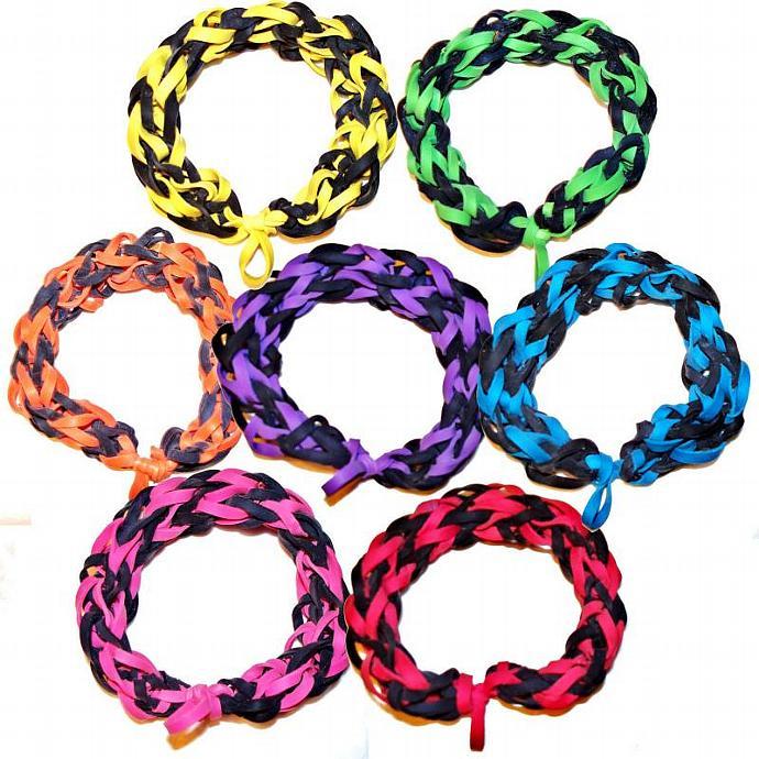 MLB Chicago White Sox Sports Bracelet - Black and White Rubber Bands - Baseball
