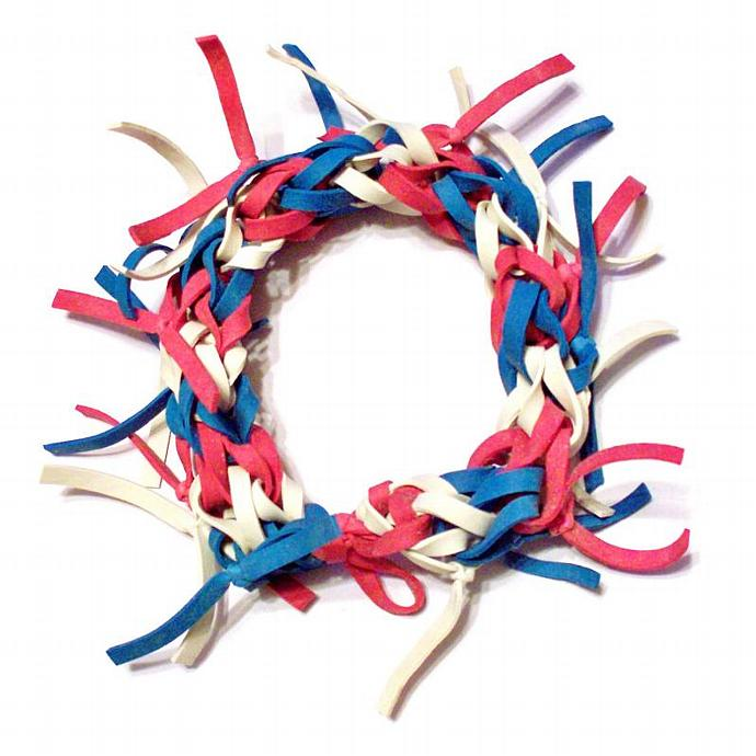 4th of July Bracelet - Red, White, and Blue Bracelet Made with Stretchy Rubber