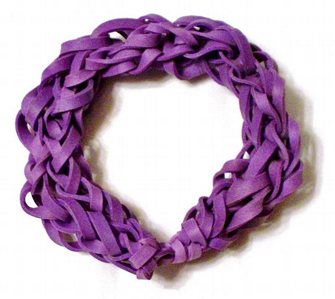Purple Rubber Band Bracelet - Great Party Favor / Gift for Kids Teens and Adults
