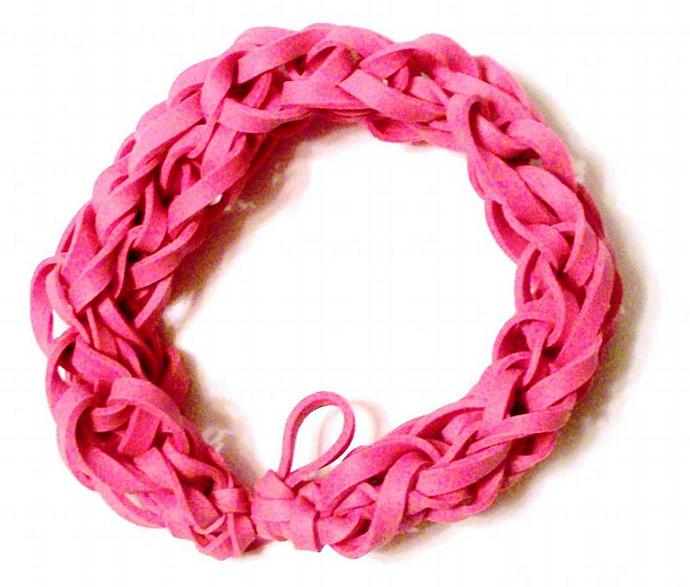 Pink Rubber Band Bracelet - Breast Cancer Awareness - Support the Cause - Race