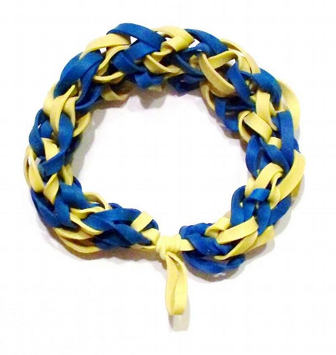 MLB Milwaukee Brewers Sports Bracelet - Blue and Yellow Rubber Band Bracelet -