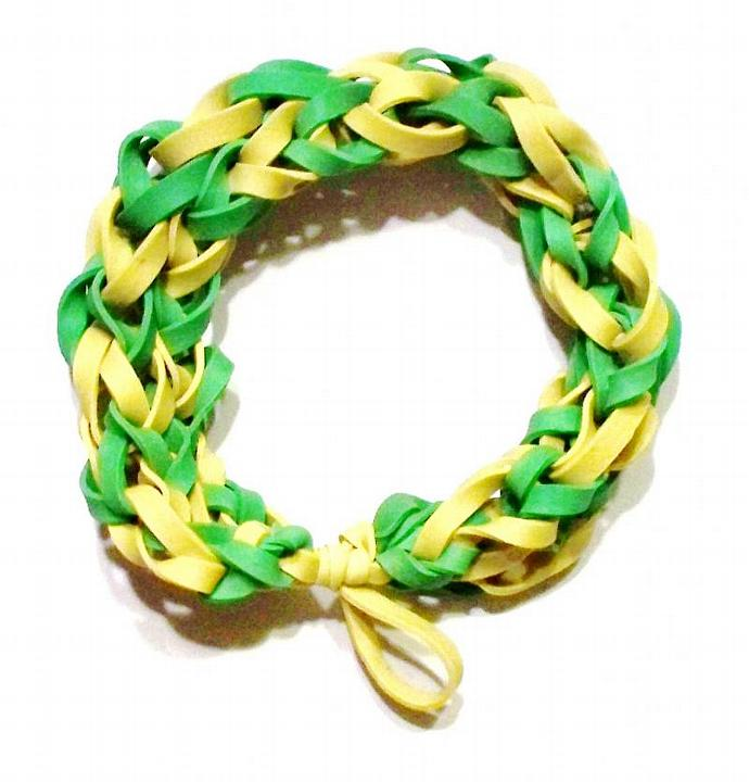 Green Bay Packers Sports Bracelet - Green and Yellow Rubber Bands -  NFL