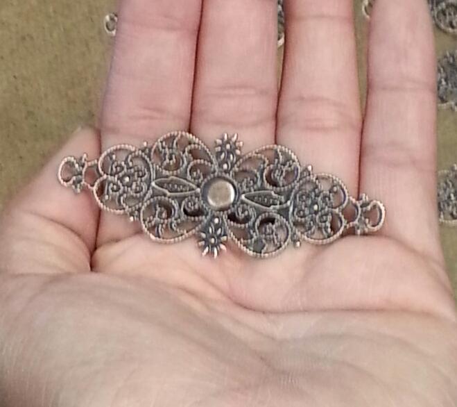 Copper filigree embellishments-6pcs