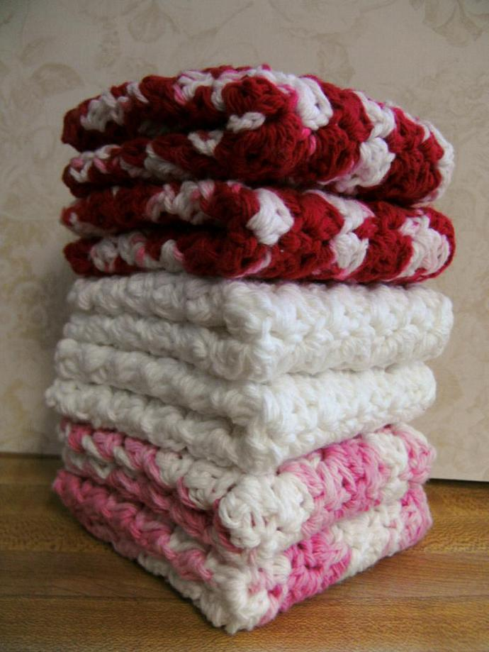 ALL MY LOVE--Red-Pink-White---Set of 6 Handmade Co